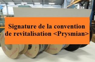 Signature de la convention de revitalisation Prysmian