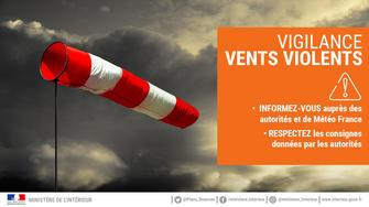 Vigilance ORANGE - vents violents